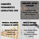 Membros das Comissões Permanentes da CMG foram escolhidos para a legislatura 2021