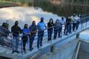 Parlamentares visitam as obras de construção da barragem em Guanhães